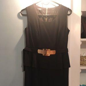 Alfani Black Sleeveless Mini Peplum Dress